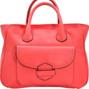 Handbags - Coral Downtown Soft Satchel Tote